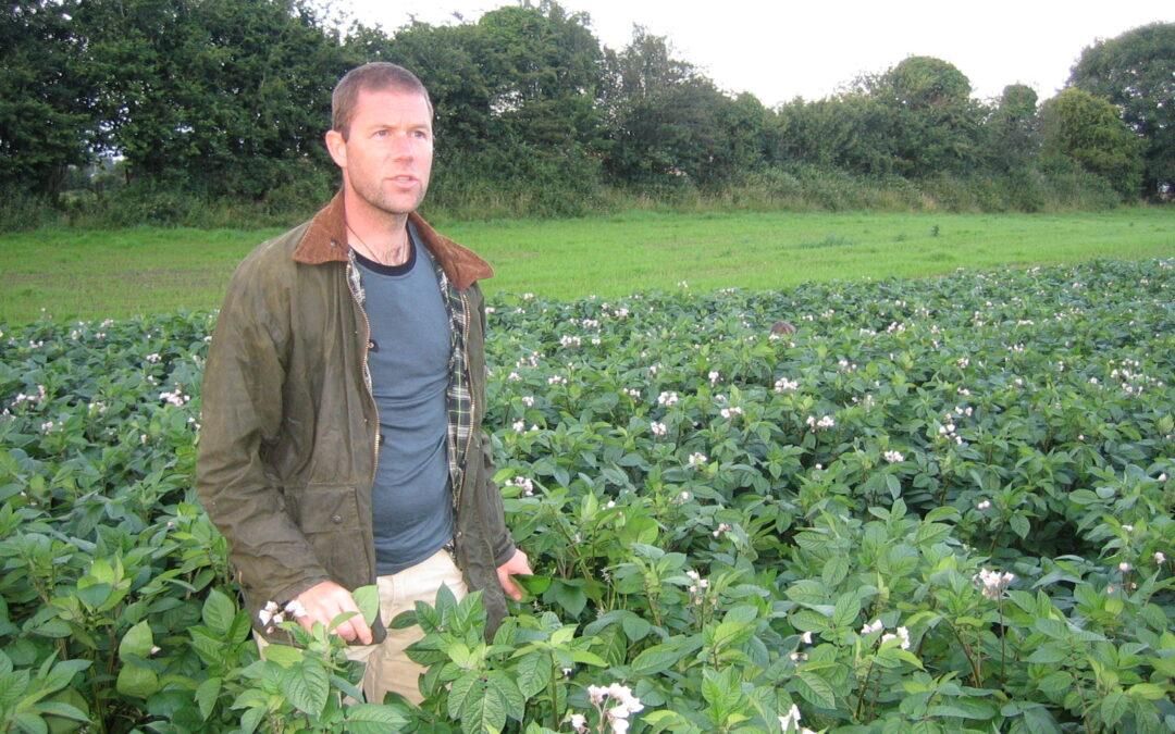 "Charles ""Merf"" Merfield on a farm walk on Beechlawn Organic Farm, July 2008"